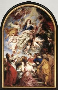 La Virgen en el cielo